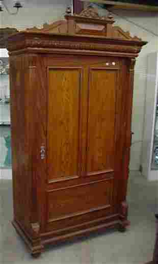 """Painted pine wardrobe, 80"""" tall and 44"""""""