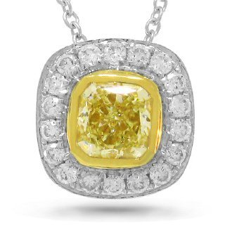 0.61ct 14k Two-tone Gold Radiant Cut Natural Fancy