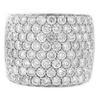 3.75ct 14k White Gold Diamond Pave Lady's Ring H/VS-SI