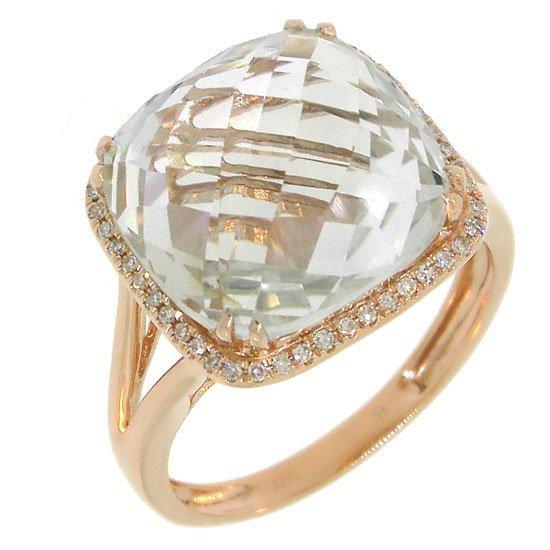 Diamond & White Topaz Fashion Ring