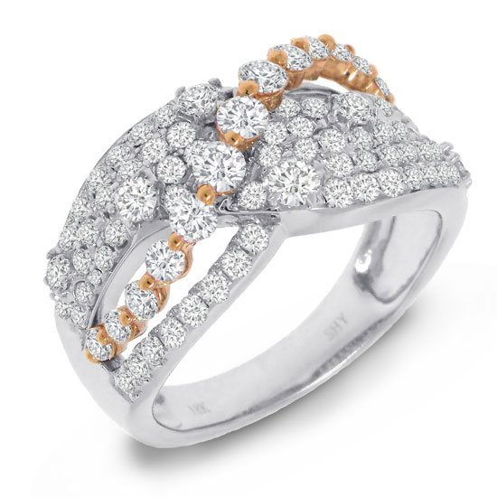 1.51ct 18k Two-tone Rose Gold Diamond Ring
