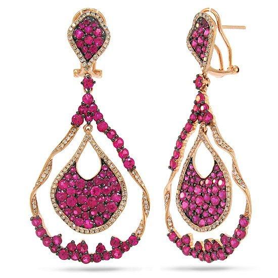 1.00ct Diamond & 7.57ct Pink Sapphire 14k Rose Gold