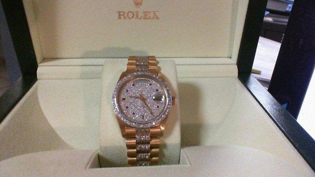 Rolex Super President  Diamond Dial, Bezel, Bracelet