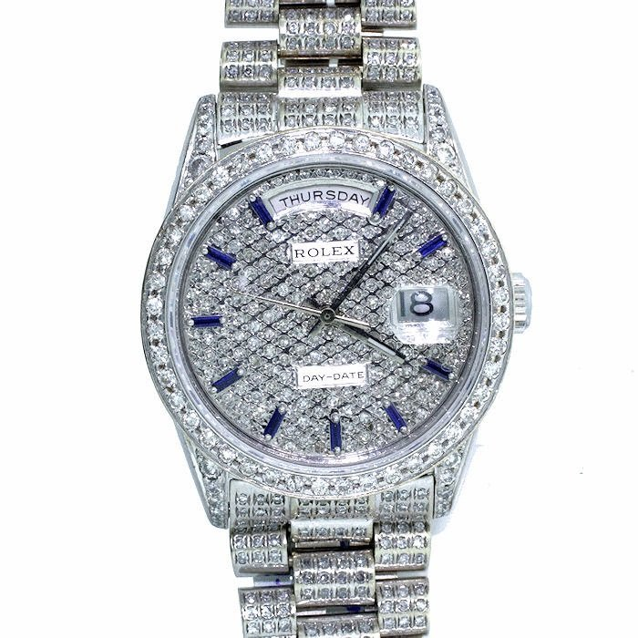 Rolex Oyster Perpetual Rolex, 18kt White Gold & Diamond