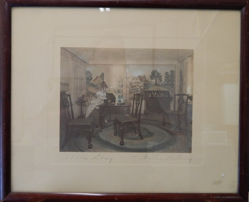 WALLACE NUTTING SIGNED LITHOGRAPH