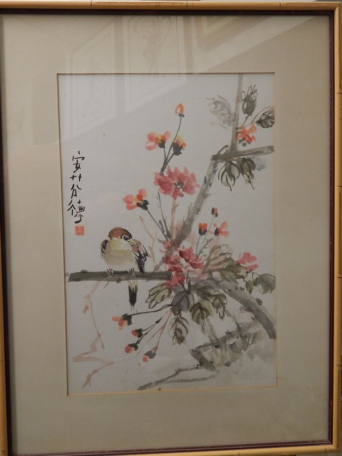 CHINESE MARKED WATERCOLOR