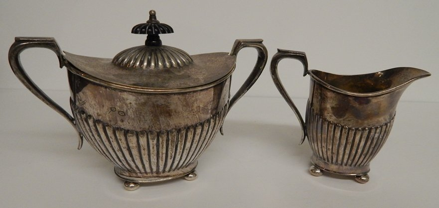 EPNS (I.F.S.) MADE IN SHEFFIELD ENGLAND PLATED TEA SET - 4