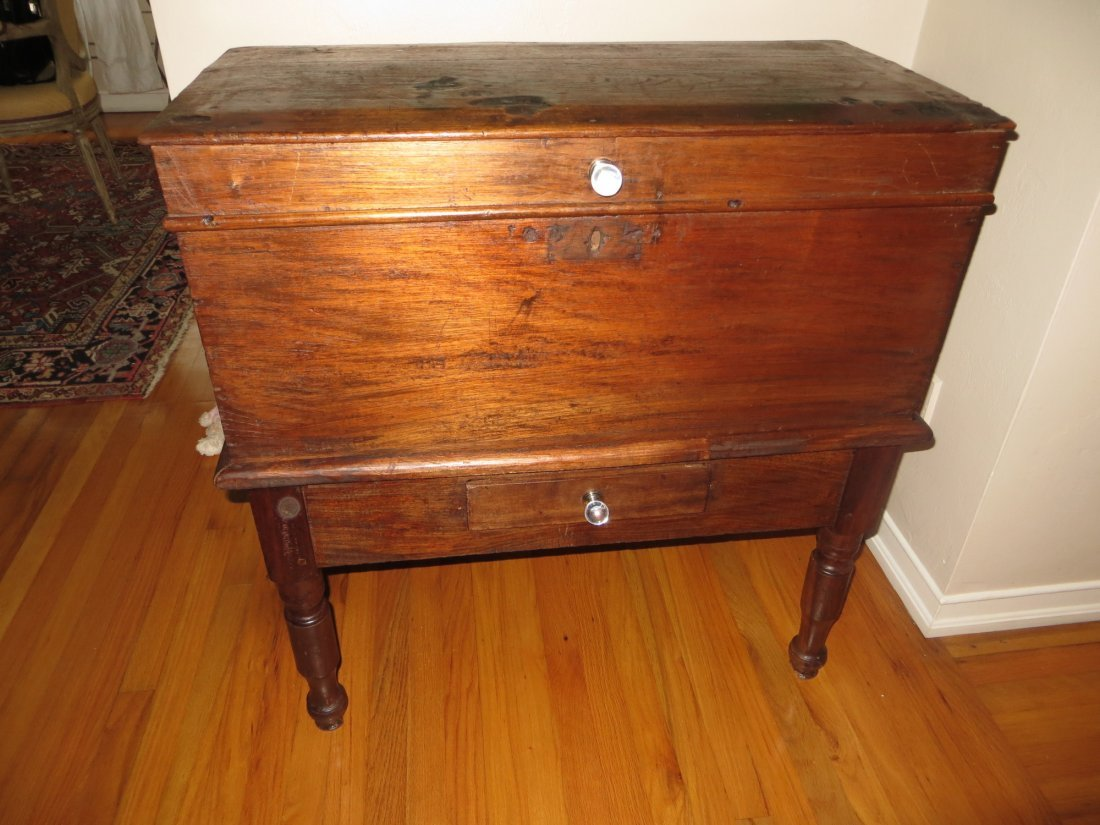 Antique Guatemalan Chest on Table