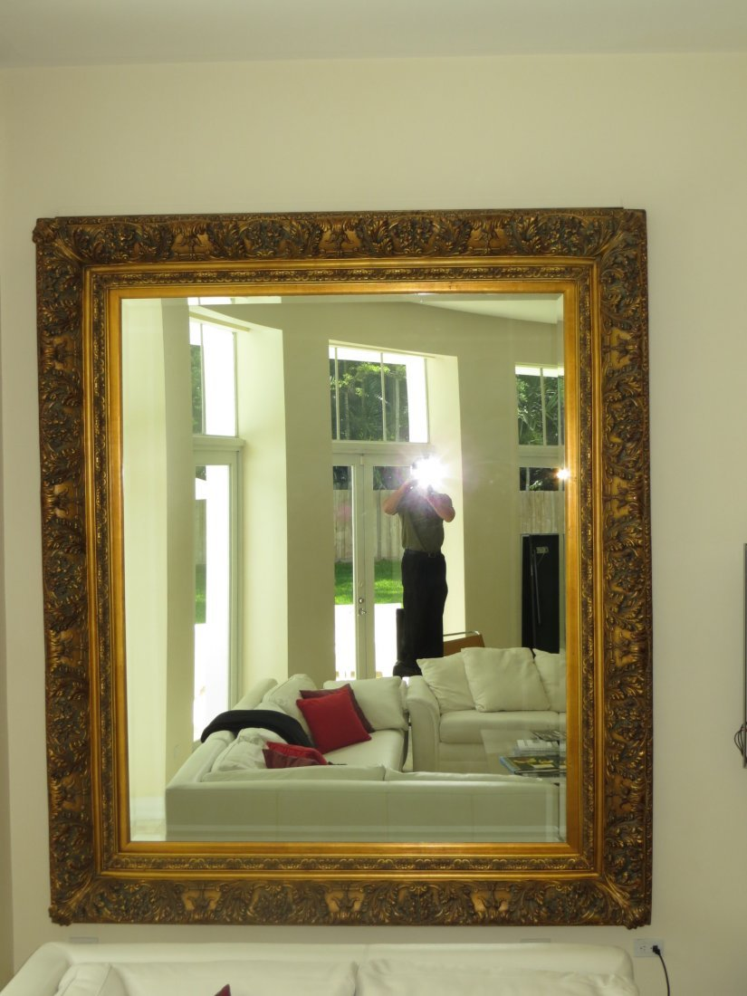 Large Giltwood and Gesso mirror