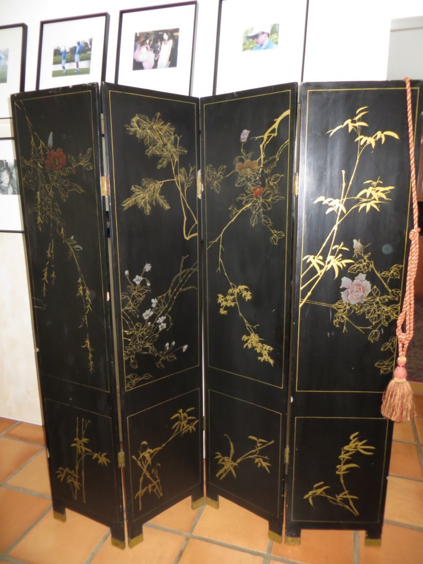Painted Asian Screen