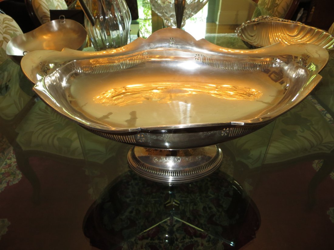 American Colonial Large Sterling Serving Plate