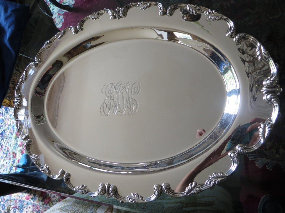 Large Antique Sterling Serving Dish