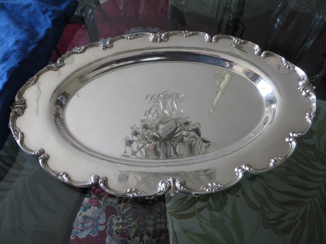 Antique Sterling Serving Plate