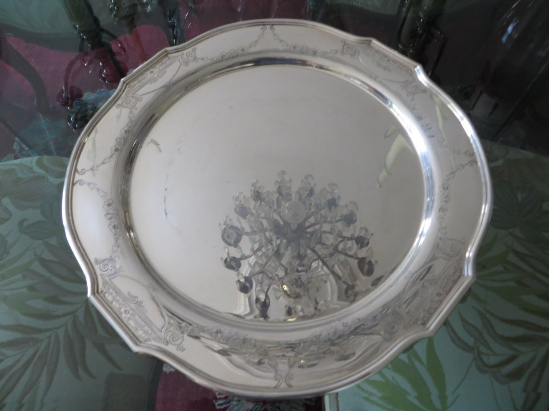 Antique Round Sterling Plate