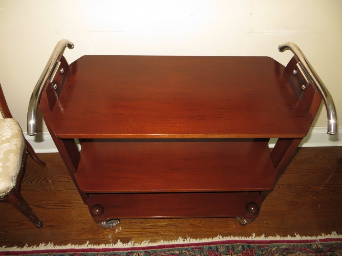20th C Christofle Table Service Trolley