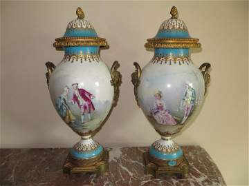 Two Sevres Porcelain Urns, 1774