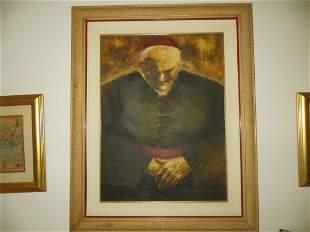 Mariano Sanchez Portrait Study of a Bishop