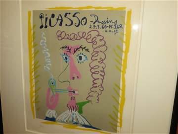 Pablo Picasso Lithograph- Fumeur- Picasso, Dessins