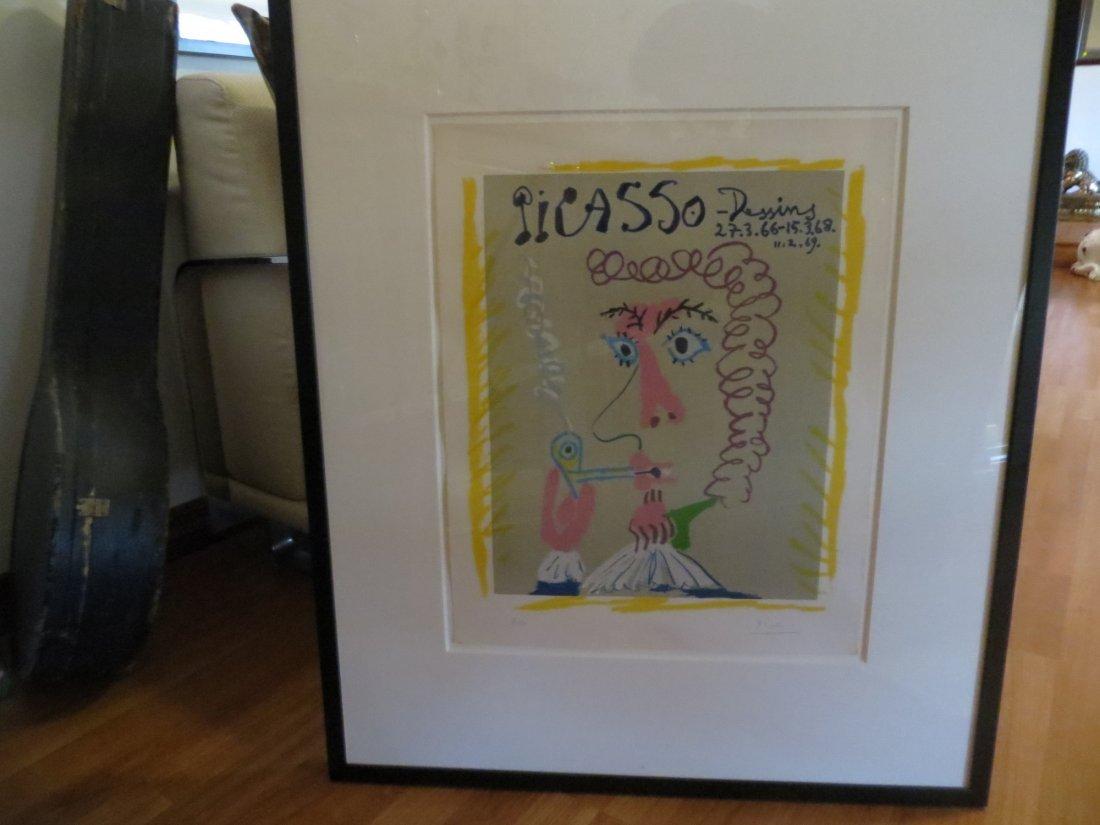 Pablo Picasso Lithograph- Fumeur- Picasso, Dessins - 2