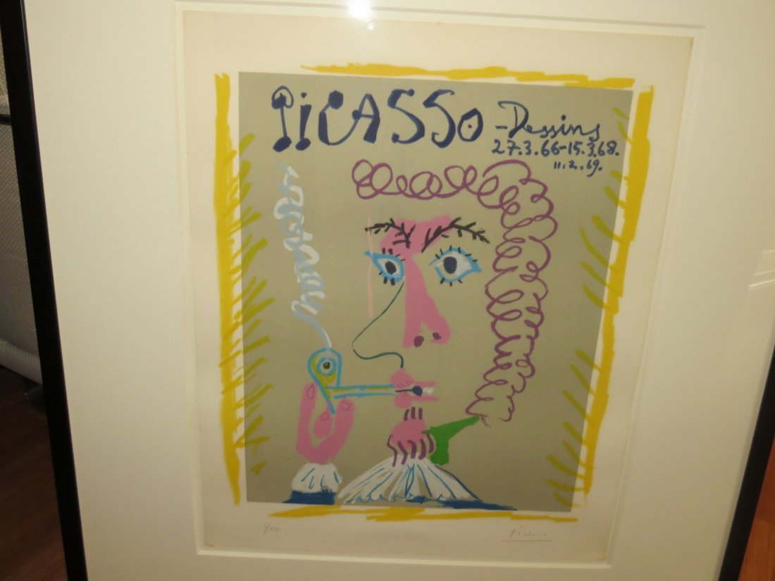 Pablo Picasso Lithograph- Fumeur- Picasso, Dessins - 6