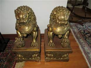 Two Chinese Foo Dogs