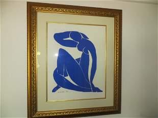 After Henri Matisse, Blue Nude II