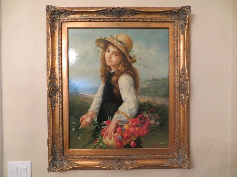 Hunt, Young Girl with a Basket of Flowers
