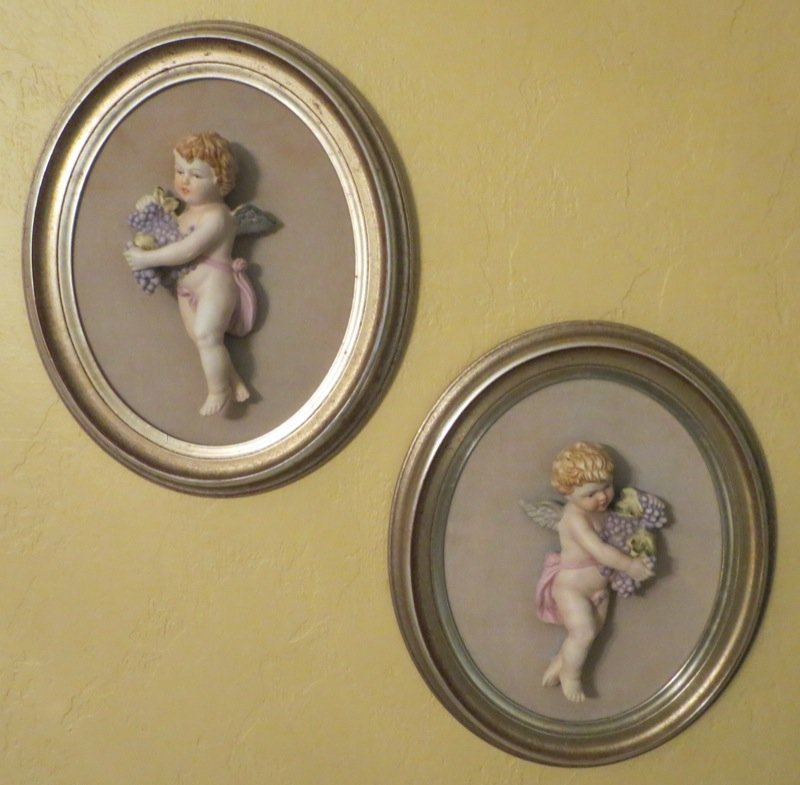 Two Porcelain Wall Plaques