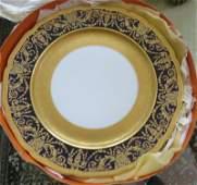 Set of Six Limoges Porcelain Plates