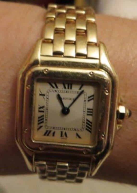 Cartier Tank Americaine 18k Gold Ladies Watch