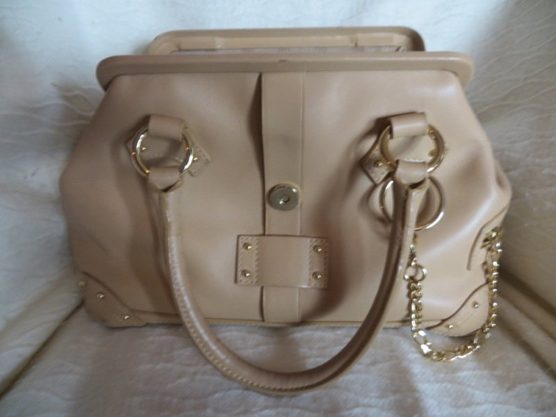 Harrods Label Double Handled Tote in Caramel Leather