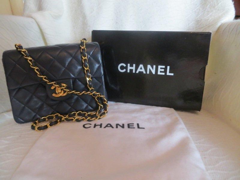 Midnight Blue Leather Chanel Shoulder Bag