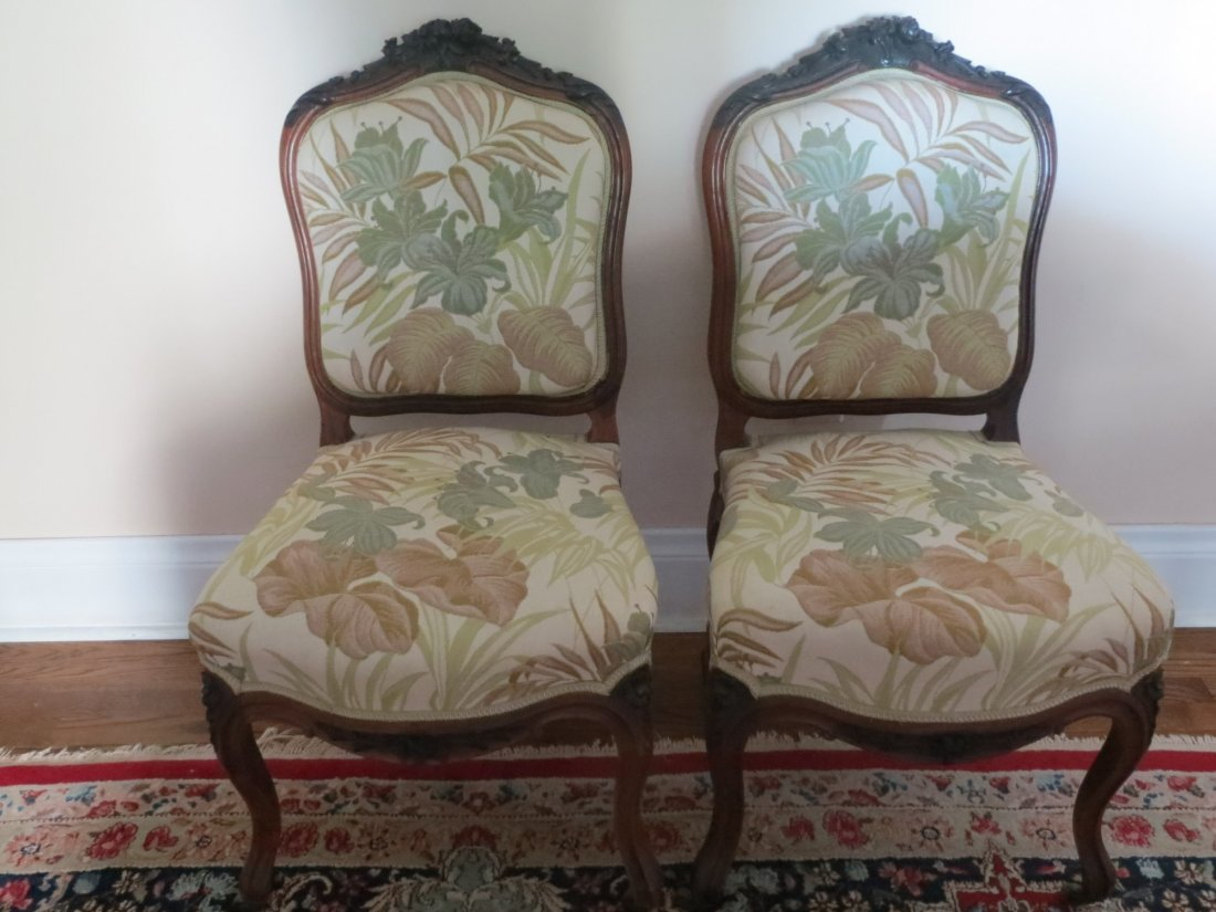 Six Carved Rosewood Dining Chairs