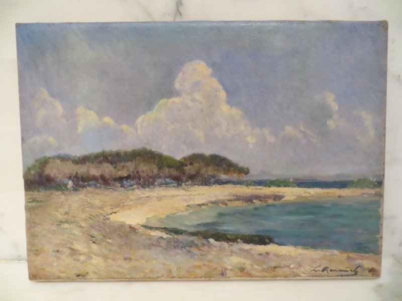Leopoldo Romañach, Beach scene