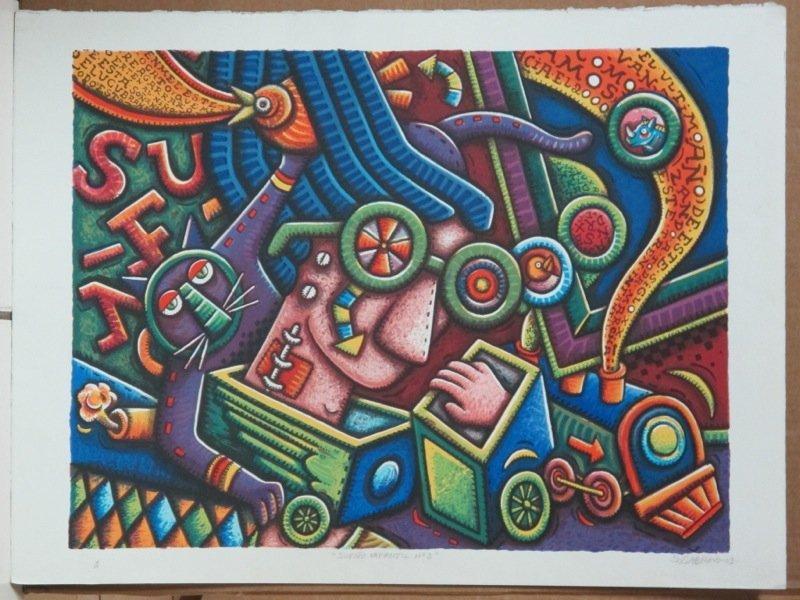 """Alfredo Sosabravo (1930) """"Sueño infantil II"""""""
