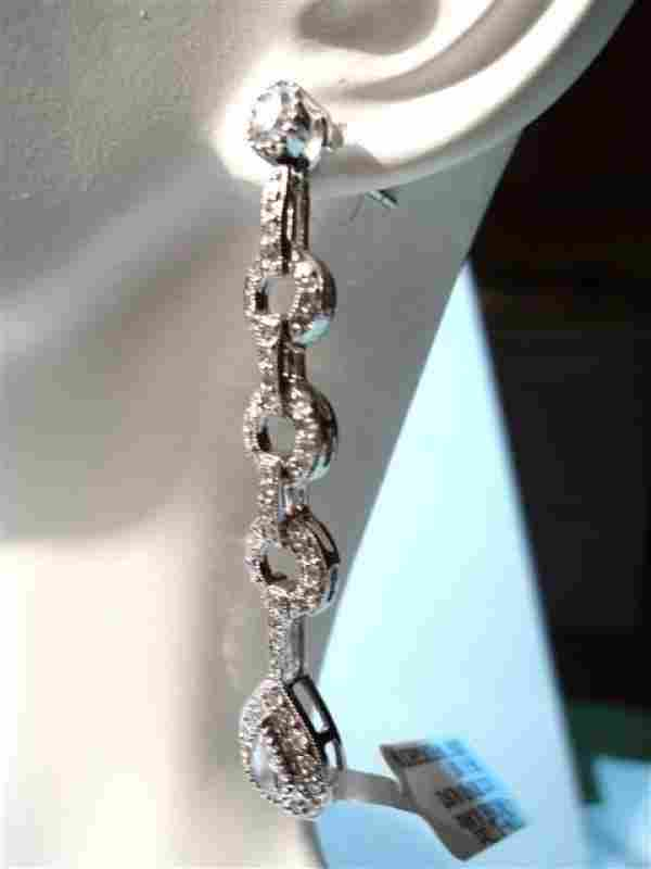 Piero Milano 1.72 Ct Diamond, 18k Wg Dangle Earrings