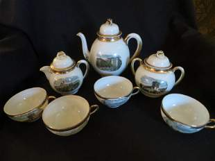 Panama California Exposition 1915, 7 Piece Tea Set