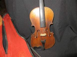 Violin & Bow, Circa 1890 - 1920