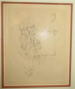 Hans Bellmer (German 1902-1975) Erotic Figure Study