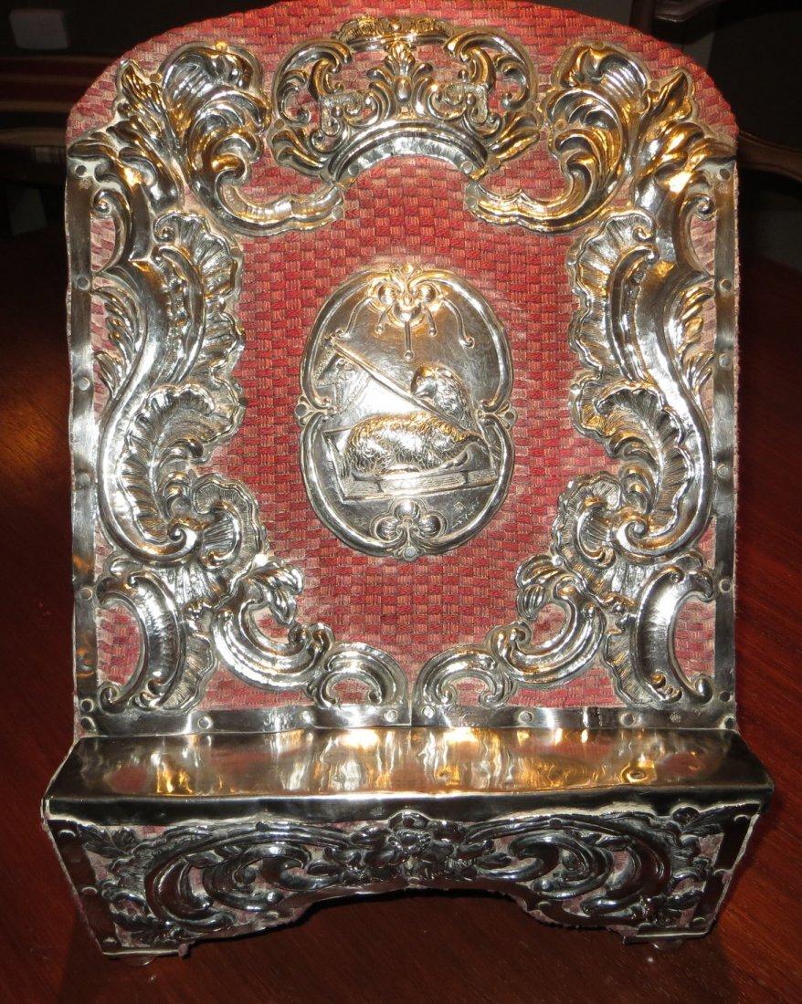 18th C Spanish Colonial Silver Lectern (Agnus Dei)