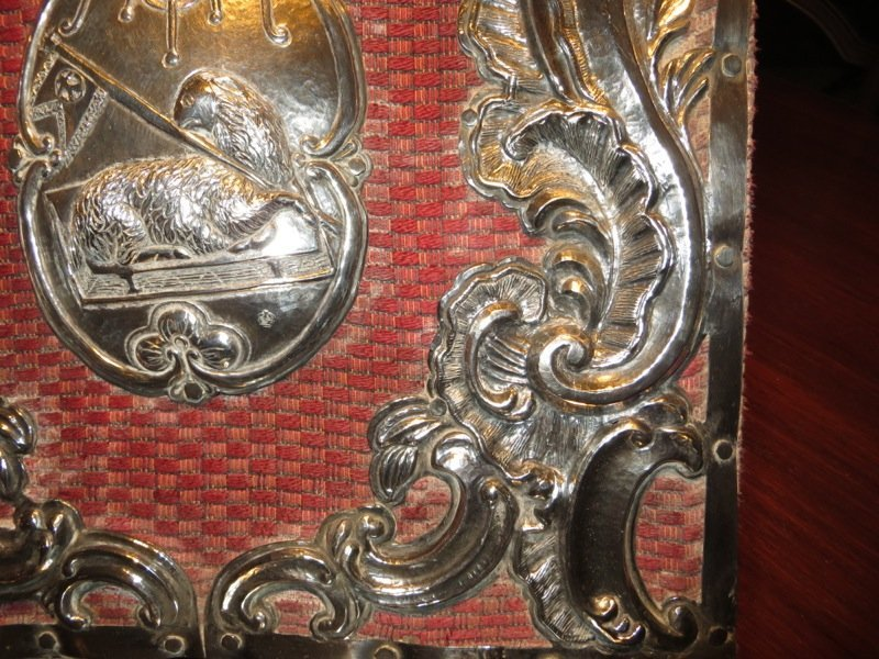 18th C Spanish Colonial Silver Lectern (Agnus Dei) - 4