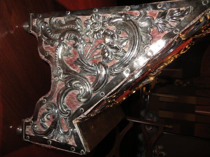 18th C Spanish Colonial Silver Lectern (Agnus Dei) - 7