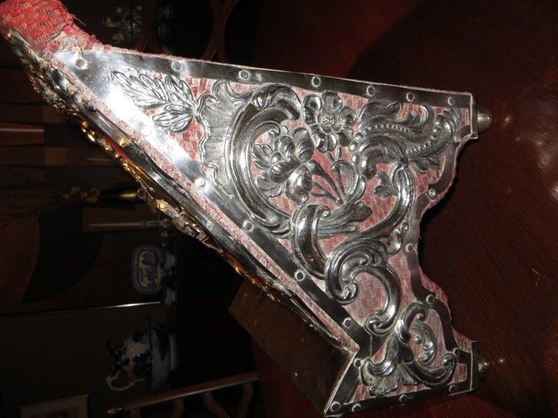 18th C Spanish Colonial Silver Lectern (Agnus Dei) - 8