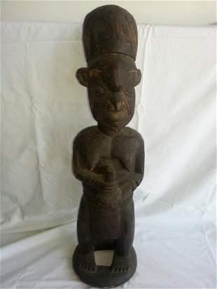 Nigerian Yoruba Carved Wood Maternity Figure