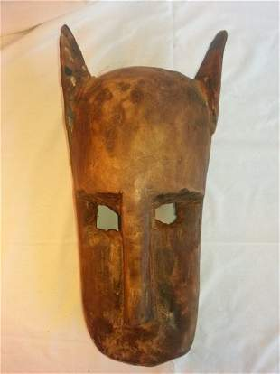 Mali, African Carved Wood Dogon Zoomorphic Mask