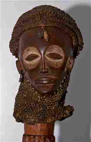 Superb Chokwe African Mwana Pwo Mask