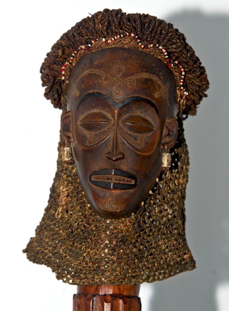 19th C. Chokwe African Mwana Pwo Mask