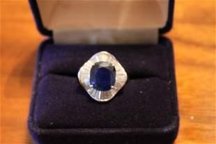 Sapphire Ballerina Ring 18k White Gold Mounting