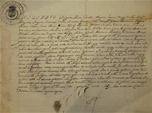 King Philip IV of Spain (1605 - 1665) Signed Letter