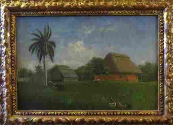 Eduardo Morales, (Cuba) Paisaje Oil On Canvas
